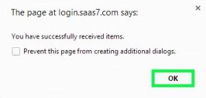 Online Membership Receive Items